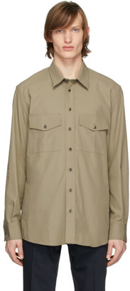 Joseph Khaki Twill Double Pocket Shirt