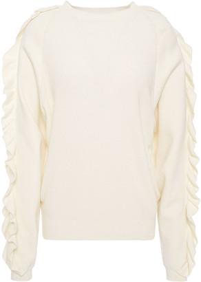 BA&SH Ciel Ruffled Cotton Sweater