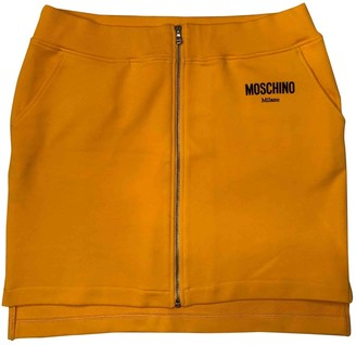 Moschino Yellow Cotton Skirt for Women
