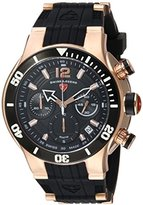 Swiss Legend Men's 'Sharkarma' Quartz Stainless Steel and Silicone Casual Watch, Color:Black (Model: 14084SM-RG-01-BB)