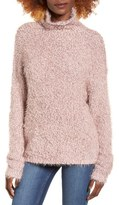 BP Women's Fluffy Knit Mock Neck Pullover