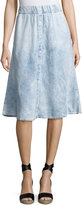 Cheap Monday Scaler Denim-Style A-line Skirt, Light Blue