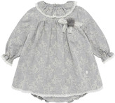 Carrera Pili Eyelet Embroidered Lace Trim Dress w/ Bloomers, Size 12M-3