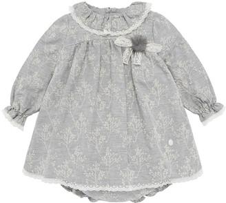 Pili Carrera Eyelet Embroidered Lace Trim Dress w/ Bloomers, Size 12M-3