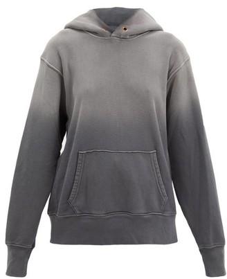LES TIEN Ombre Cotton-jersey Hooded Sweatshirt - Black
