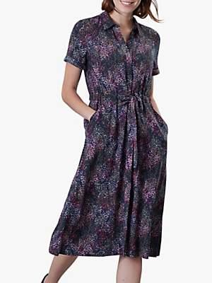 Joules Winslet Button Dress, Navy Rain