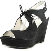 Fergalicious Vicky Open Toe Synthetic Wedge Sandal.