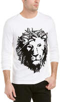 Versus By Versace Lion Mohair-Blend Crewneck Shirt