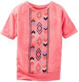 Osh Kosh Toddler Girl Neon Puff-Print Dolman Short Sleeve Tunic