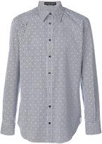 Alexander McQueen mini skull striped shirt - men - Cotton - 40