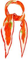 Hermes Les Pivoines Silk Plissé Scarf w/ Tags