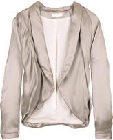 Cropped satin jacket