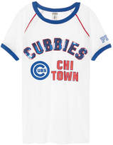 PINK Chicago Cubs Ringer Crew Tee