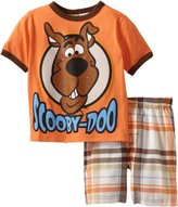 Scooby-Doo Boys 2-7 Toddler 2 Piece Knit and Woven Short Set