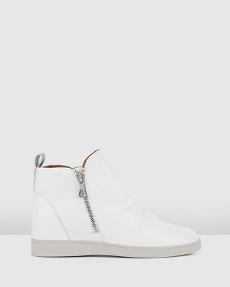 Hush Puppies Women's White Ankle Boots - Monterey - Size One Size, 5 at The Iconic
