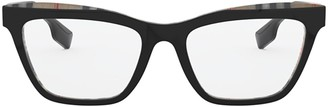 Burberry Be2309 Top Black On Vintage Check Glasses
