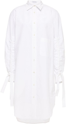 J.W.Anderson Gathered Cotton-poplin Shirt Dress