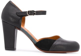 Chie Mihara 80mm Contrasting Panel Pumps