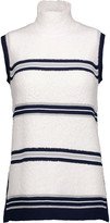 Derek Lam Striped wool-blend turtleneck sweater