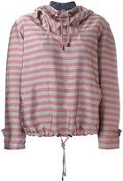 Jil Sander Navy striped hoodie