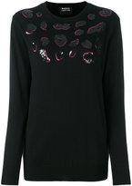 Markus Lupfer sequin lips sweater - women - Wool - XS