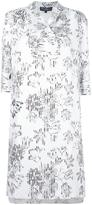 Salvatore Ferragamo striped overlay floral dress - women - Silk - 42