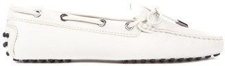 Tod's Tods White City Gommino Driving Shoes In Suede