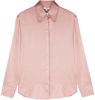 Vince Rose Silk-satin Shirt