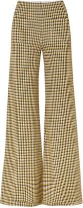 Hellessy Luc Houndstooth Tweed Wide-leg Pants