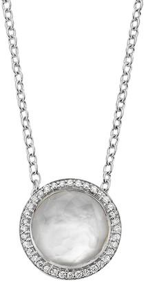 Ippolita Lollipop Carnevale Sterling Silver, Doublet & Diamond Pendant Necklace