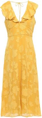Joie Adella Ruffle-trimmed Fil Coupe Georgette Midi Dress