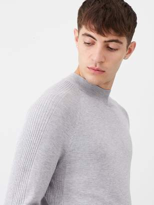 River Island Grey Slim Fit Turtle Neck Knitted Jumper