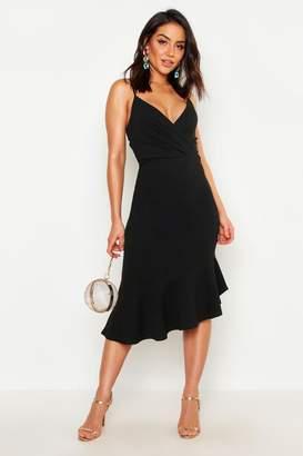 boohoo Ruffle Midi Dress