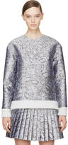 Mary Katrantzou Silver Jacquard Cookie Print Sweater