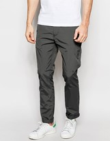 Asos Skinny Chinos In Dark Gray Nylon