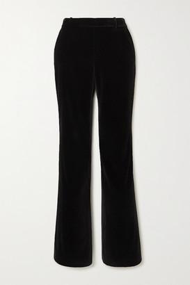 Alice + Olivia Hayley Velvet Straight-leg Pants - Black