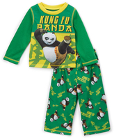 Komar Kids Green & Yellow Kung Fu Panda Pajama Set - Toddler