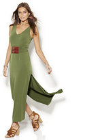 New York & Co. Belted Sleeveless Maxi Dress