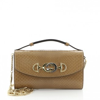 Gucci Zumi Brown Exotic leathers Handbags