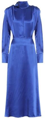 MATÉRIEL Silk-satin midi dress