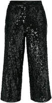 Twin-Set sequinned cropped trousers