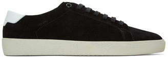 Saint Laurent Black Suede Court Classic Sneakers