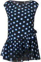 Moschino sleeveless polka dot blouse