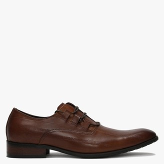 Daniel Xenoblast Tan Leather Loop Lace Up Shoes