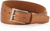 Neiman Marcus Pebbled Leather Belt, Tan