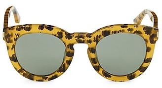 Saint Laurent Avana 47MM Leopard-Print Pantos Sunglasses