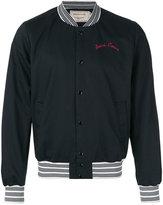 MAISON KITSUNÉ embroidered classic bomber jacket - men - Cotton - M