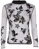 Topshop Embroidered long sleeve top
