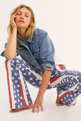 Free People Penny Pull-On Stars & Stripes Flare Jeans