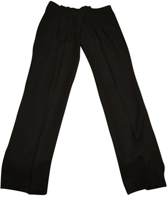 Comptoir des Cotonniers Black Synthetic Trousers